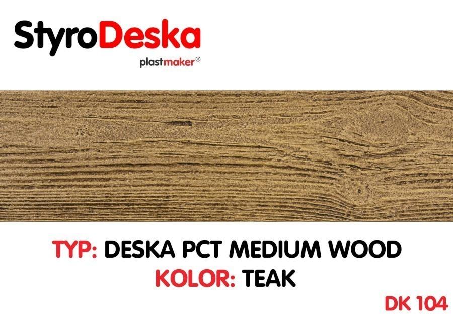 Profil Drewnopodobny Styrodeska Medium Wood Kolor Teak Wymiar 14 Cm X 200 Cm X 1 Cm Cena Za 1 M2